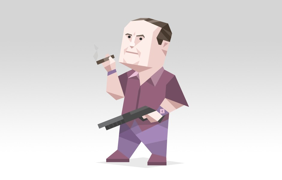 "Tony Soprano from ""The Sopranos"" tv series"