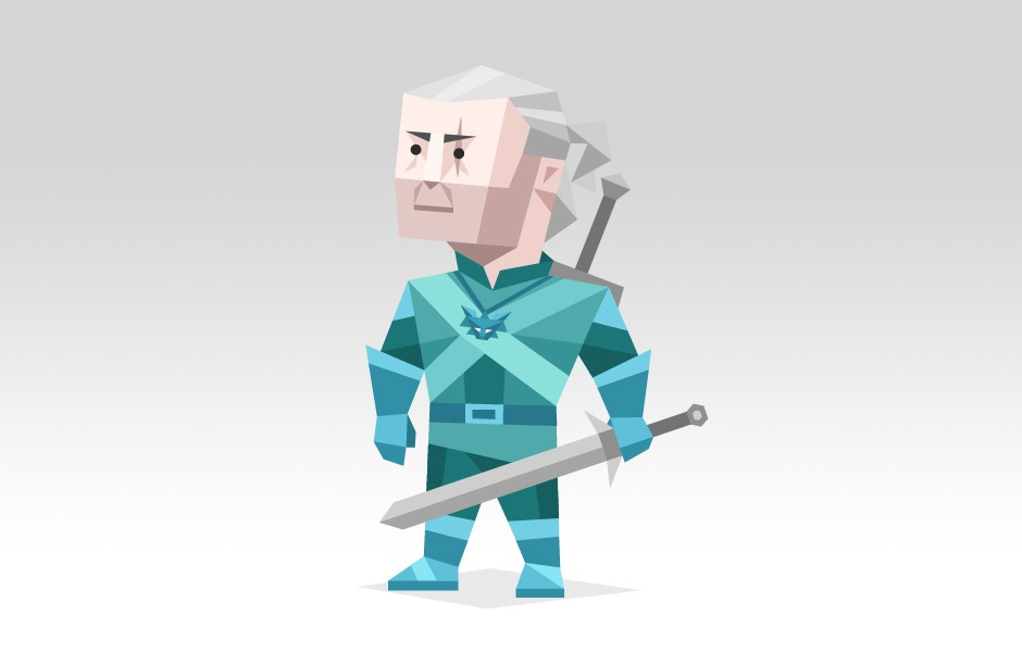 Geralt from the tales of the Witcher